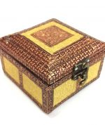 Antique Style Meenakari Jewelry Box - REXIN-13