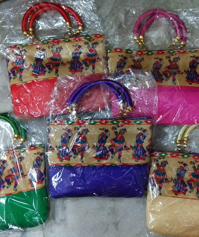 Cute and Small Women Hand Bags with Dandiya Theme