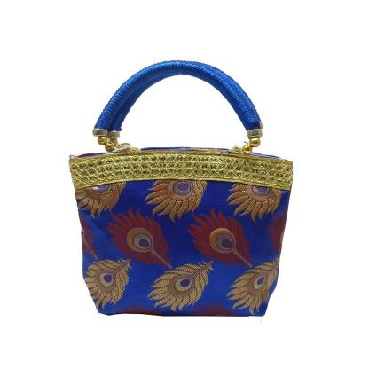 Feather Design Handbag With Border – Medium Size