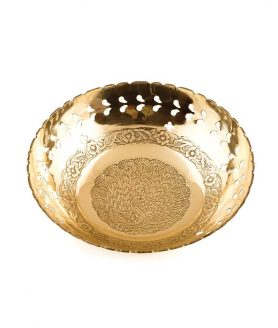 Brass Fruit Bowl (7 Inches)