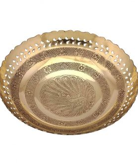Brass Fruit Bowl (9 Inches)2