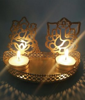 Lakshmi Ganesh Shadow Candle Light2