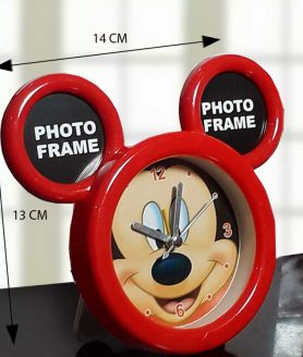 Mickey Mouse Analog Alarm Clock(pink color)-1