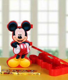 Mickey Mouse Pencil Box - Mixed Colours-Red, Blue1