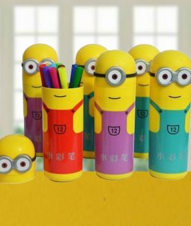 Minions Sketch Box Pack of 12 Multi color Sketch Pens3
