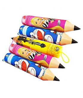 Pencil shape zip pouch with Mixed Themes