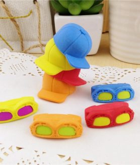 Creative Sunglass Hat Cartoon Rubber Eraser