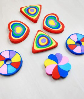 Rainbow Multi-color eraser for Kids